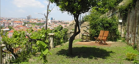 Casa Costa do Castelo Garten